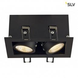 Actie SLV 115710 Kadux 2 LED inbouwspot zwart