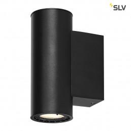 SLV 116340 supros 78 zwart 2xled 3000k
