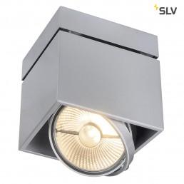 SLV 117104 Kardamod Surface Square ES111 single zilvergrijs plafondlamp