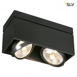 SLV 117110 Kardamod Surface Square ES111 single zwart plafondlamp