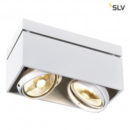 Actie SLV 117111 Kardamod Surface Square ES111 double wit plafondlamp