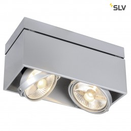 SLV 117114 Kardamod Surface Square ES111 single zilvergrijs plafondlamp