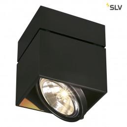 SLV 117120 Kardamod Surface Square QRB111 single zwart plafondlamp