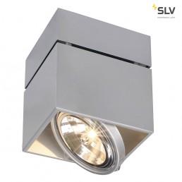 SLV 117124 Kardamod Surface Square QRB111 single zilvergrijs plafondlamp