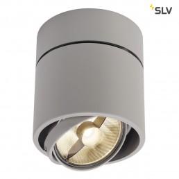 SLV 117164 Kardamod Surface Round ES111 single zilvergrijs plafondlamp