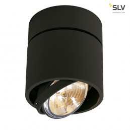 SLV 117170 Kardamod Surface Round QRB111 single zwart plafondlamp