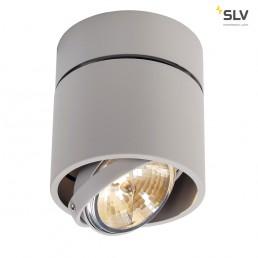 SLV 117174 Kardamod Surface Round QRB111 single zilvergrijs plafondlamp