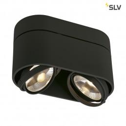 Actie SLV 117180 Kardamod Surface Round ES111 Double zwart plafondlamp