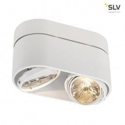 SLV 117191 Kardamod Surface Round QRB111 double wit plafondlamp