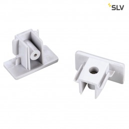SLV 143131 1-Fase eindkapjes (set van 2) wit