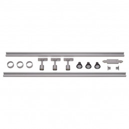 SLV 143194 1-Fase Spanningsrail Set 3 x PURI zilvergrijs
