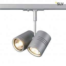 SLV 143432 Bima 2 zilvergrijs 1-fase railverlichting