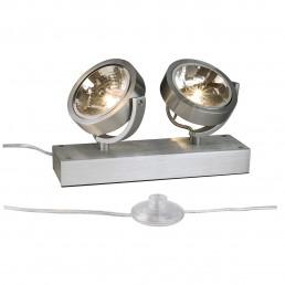 SLV 147296 Kalu Floor 2 alu geborsteld vloerlamp