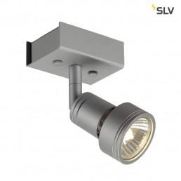 SLV 147364 Puri 1 zilvergrijs plafondspot