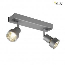 SLV 147374 Puri 2 zilvergrijs plafondspot