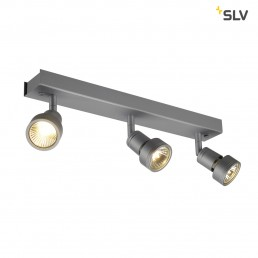 SLV 147384 Puri 3 zilvergrijs plafondspot