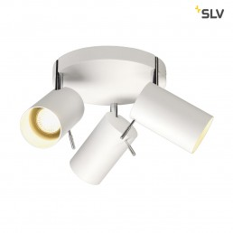SLV 147414 Asto Tube 3 Round wit plafondspot