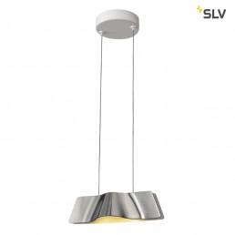 SLV 147836 Wave pendant alu/wit hanglamp