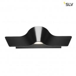 SLV 147840 wave wall 45 zwart 2xled 3000k