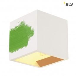 SLV 148018 Plastra Cube wit gips wandlamp