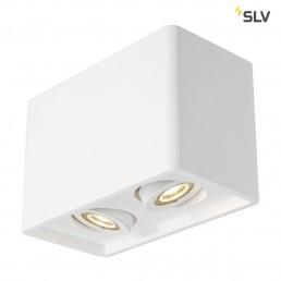 SLV 148052 Plastra Box 2 wit gips plafondlamp