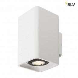 148064 SLV plastra wandlamp qpar111 wit 2xgu10