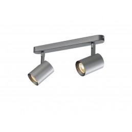 148514 SLV Debasto Double zilvergrijs LED spot