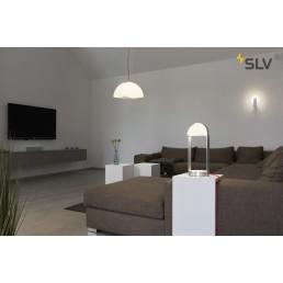 SLV 149421 brenda wandlamp wit/zilver 1xled 3000k