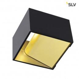 SLV 151320 Logs In Zwart / Messing wandlamp