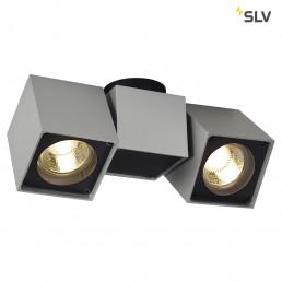 SLV 151534 Altra Dice Spot 2 zilvergrijs / zwart plafondlamp
