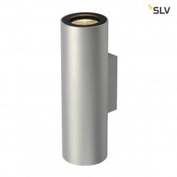 SLV 151804 Enola_B Up en Down zilvergrijs/zwart wandlamp