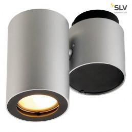 SLV 151824 Enola_B Spot 1 zilvergrijs/zwart wand- en plafondspot