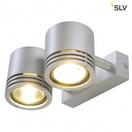 SLV 151922 Barro 2 zilvergrijs wand- en plafondspot
