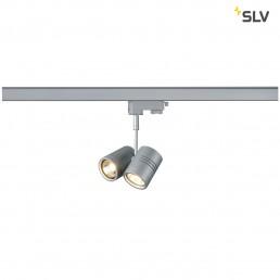 SLV 152232 Bima 2 GU10 zilvergrijs 3-fase railverlichting