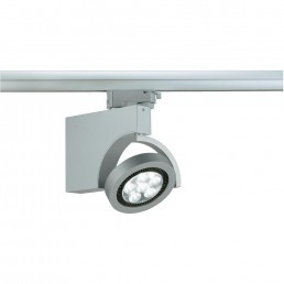 Aanbieding SLVHigh voltage - rail mounting system Dome LED Spot 153501 White Power-LED Silver-grey Built-in LED