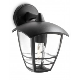 Aanbieding Philips Creek 153813016 zwart myGarden wandlamp