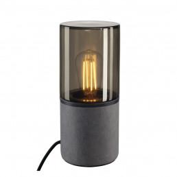 SLV 155702 lisenne tafellamp grijs/rookglas 1xe27