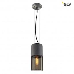 SLV 155714 lisenne pendelspot grijs/rookglas 1xe27