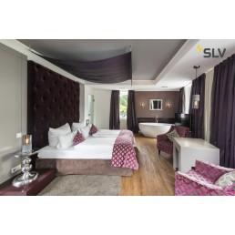 SLV 155752 lisenne wandlamp grijs/rookglas 1xe27