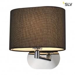 SLV 155860 Soprana oval WL-1 wandlamp zwart