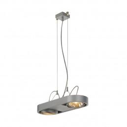 SLV 159024 Aixlight R DUO QRB111 zilvergrijs hanglamp