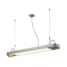 SLV 159094 Aixlight R Office T5, 39W zilvergrijs kantoorverlichting