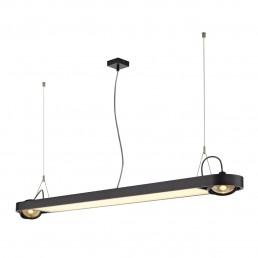SLV 159110 Aixlight R Office T5, 54W zwart kantoorverlichting