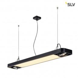 SLV 159130 aixlight r2 office led zwart led en 2xes111