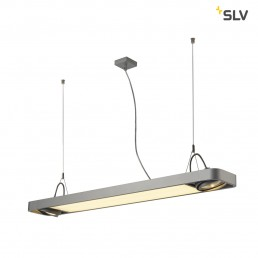 SLV 159134 aixlight r2 office led z.grijs led, 2xes111