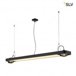 SLV 159140 aixlight r2 office led long zwart led, 2xes111