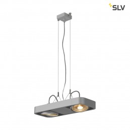 SLV 159214 aixlight r2 duo zilvergrijs 2xgu10