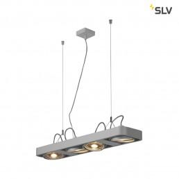 SLV 159224 aixlight r2 long zilvergrijs 4xgu10