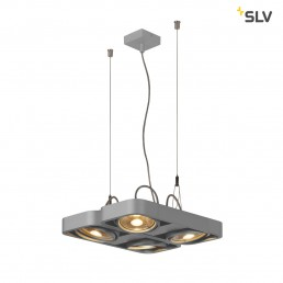 SLV 159234 aixlight r2 square zilvergrijs 4xgu10