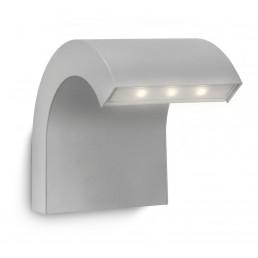 Philips Riverbank 163558716 zilvergrijs Ledino Outdoor wandlamp